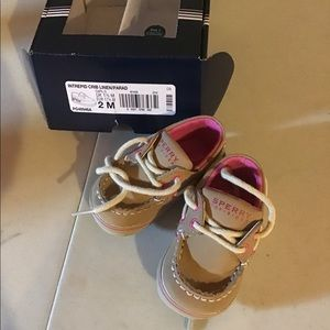 Sperry topsider infant girl shoes